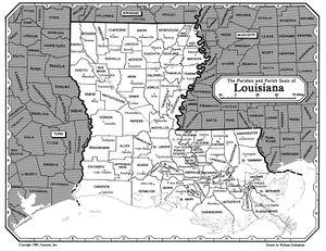 map of louisiana parishes and parish seats Louisiana Parish Resources Rootsweb map of louisiana parishes and parish seats